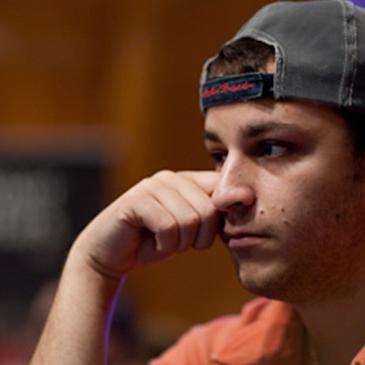 Sorel Thinking at Poker Table Looking